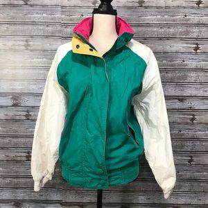90's Vintage Colorblock Nautical Sailing Jacket L